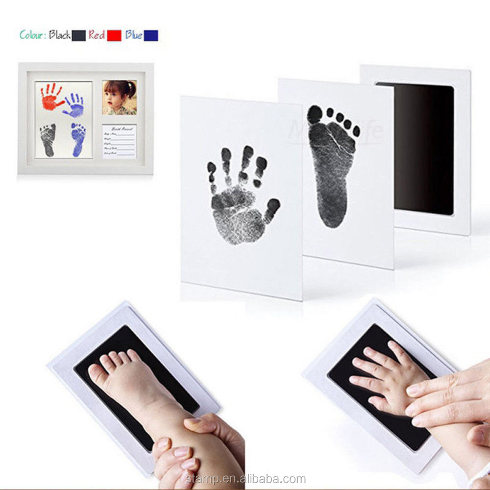 Filing Products Honesty 1set Baby Handprint And Footprint Ink Pads Paw Print Ink Kits For Babies And Pets File Folder Accessories