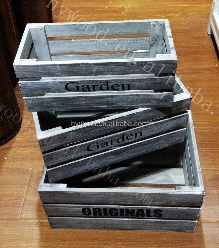 Decorativo piccolo shabby chic da giardino in legno vino cassette di frutta verdura mela crate - Cassette da giardino ...