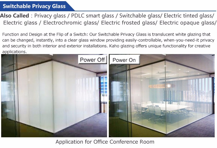 KAHO Transparent Film Glass Privacy,lcd Switchable Privacy Glass