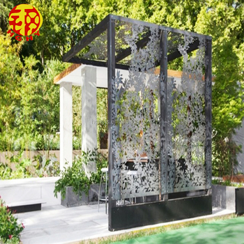 Stainless Steel Laser Cut Parion Decorative Outdoor Privacy Screens Garden Metal Panels For Landscaping