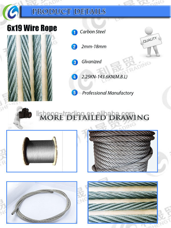 6x19 High Tension Strength Steel Wire Rope - Buy 6x19 Steel Wire ...
