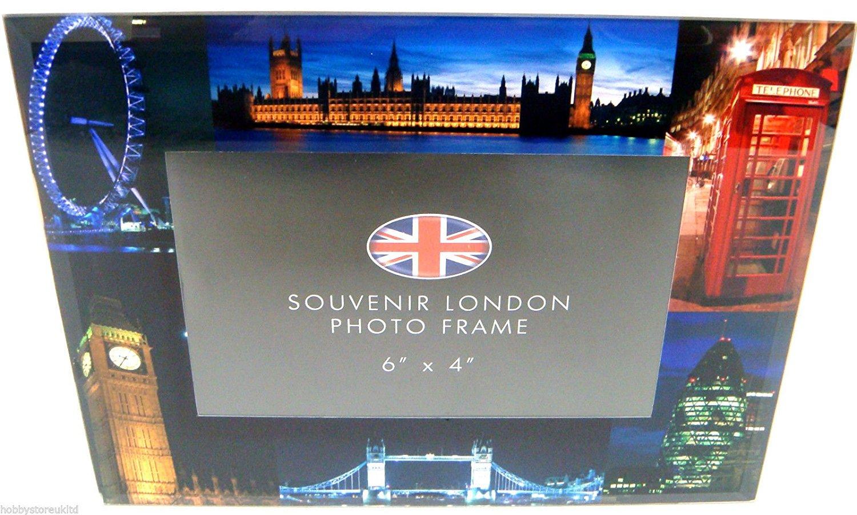 """London Night View Glass Photo Frame London Souvenier Frame Picture Frame 6"""" x 4"""""""