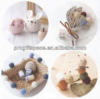 High Quality Handmade 100 Wool 2cm DIY Pet Toy Felt Ball