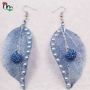 2018 Fashion New Design Leaf Shaped Jewelry Women Earrings Use For Parties