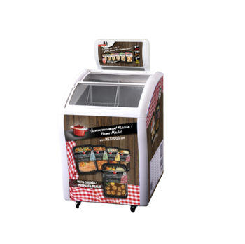 Mini Deep Freezer with Advertising Lamp Box Nestle Freezer Ice Cream Freezer