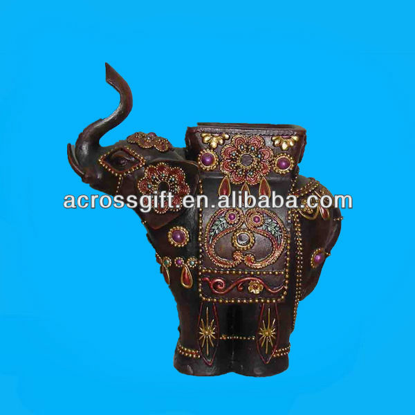 polyresin elephant holder for candle
