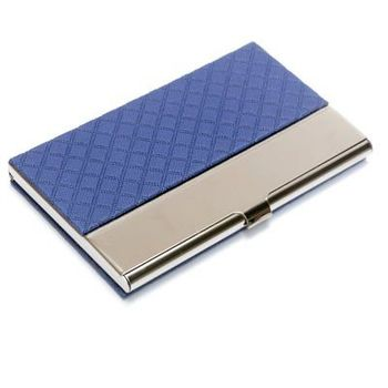 2019 new product pu leather holder business card metal case