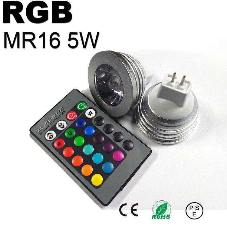 5w lamp led mr16 12v dimmable spotlight rgb spot blub light muti color ambilight focos bombillas. Black Bedroom Furniture Sets. Home Design Ideas