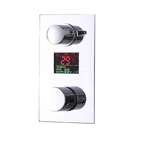 Brass Wall Mounted Hot Cold Control LED Digital Display Water Faucet Shower Concealed Thermostatic Mixer Valve
