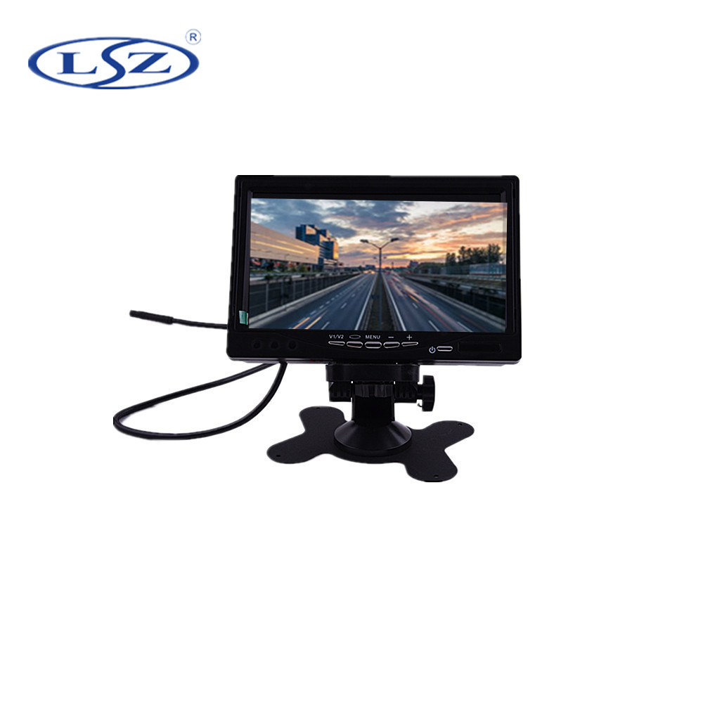 Small Size 7 Inch Led Cctv Monitor Widescreen 7inch VGA Bnc Tft Lcd Monitor With Av Input