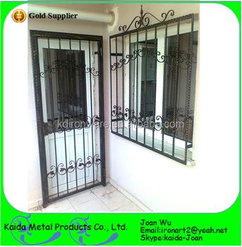 simple barato diseo de rejas de hierro para puerta ventana