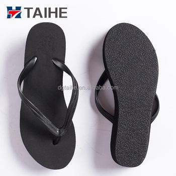 a365b225291d82 Best rubber black white flip flops women and girls latest high heel wedge  sandals