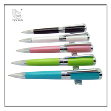 promotional items for 2017 high quality custom green metal pen with logo
