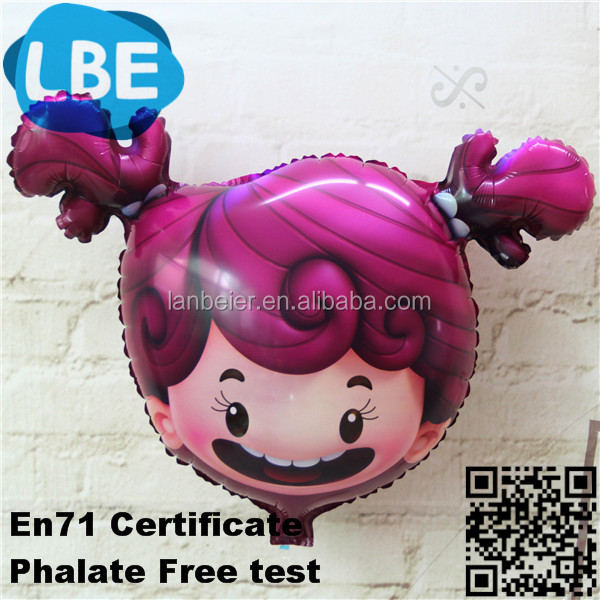 party for child little girl&littele boy customized head shape decoration balloon