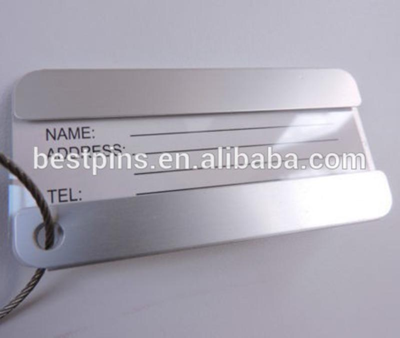 NEW Aluminium Metal Luggage Tags Travel Identity