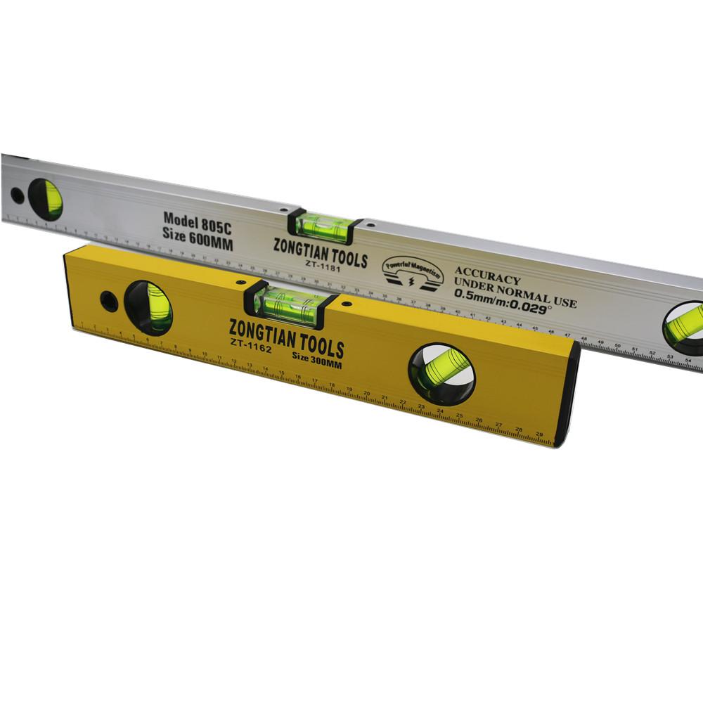Heavy duty messung werkzeug alle größe aluminium magnetische wasserwaage