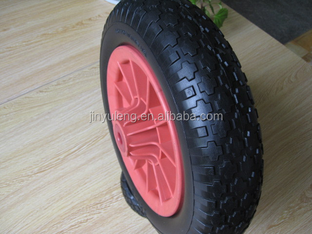 14x350-8 pu or rubber wheel barrow wheel/ wheelbarrow spare parts