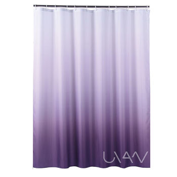 Hot Dyeing Gradient Solid Color Changing Polyester 3D Shower Curtain