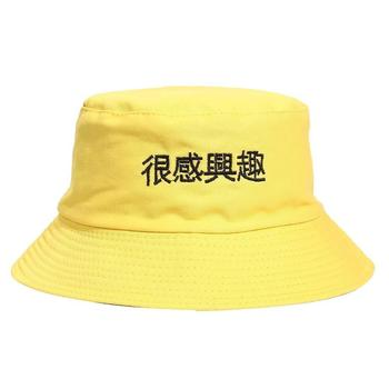 36a41e17b9b China high quality custom embroidery sun large funny girls yellow bucket hat