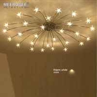 Meerosee Little Star Shape Night Lamp American Postmodern Star Ceiling Light for Bar Cafe MD85951