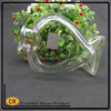 Hot sale honey fish shape perfume/aroma bottle clear glass bottle