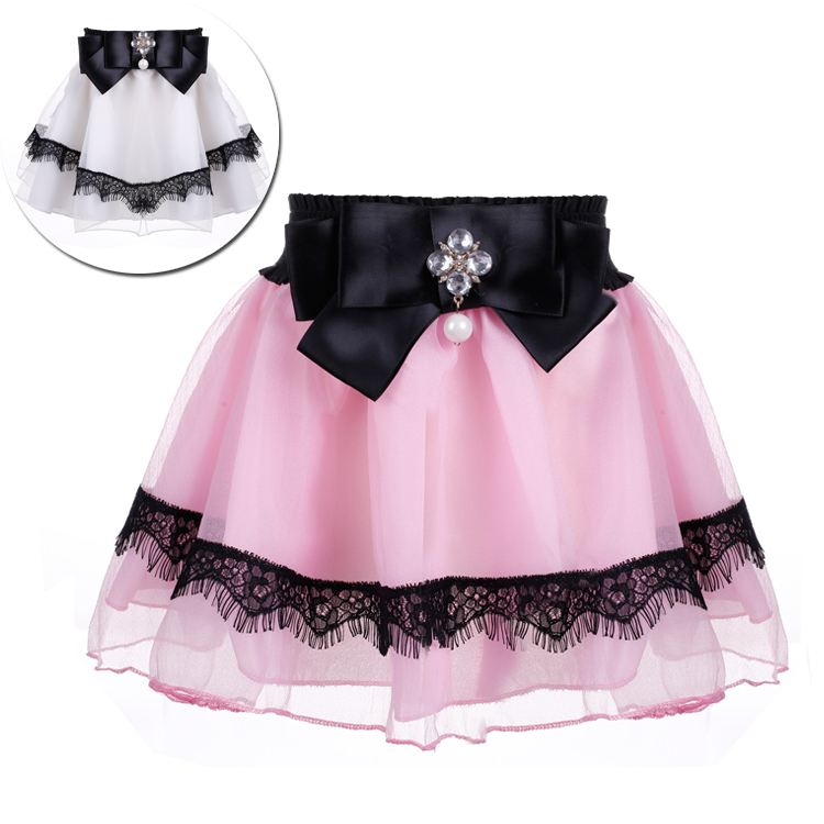 3e8e1ca9cf5d Get Quotations · 2015 New Design Baby Girl's Skirt Kids Wear Elastic Waist Short  Skirt Children Cute Sweet Pleated