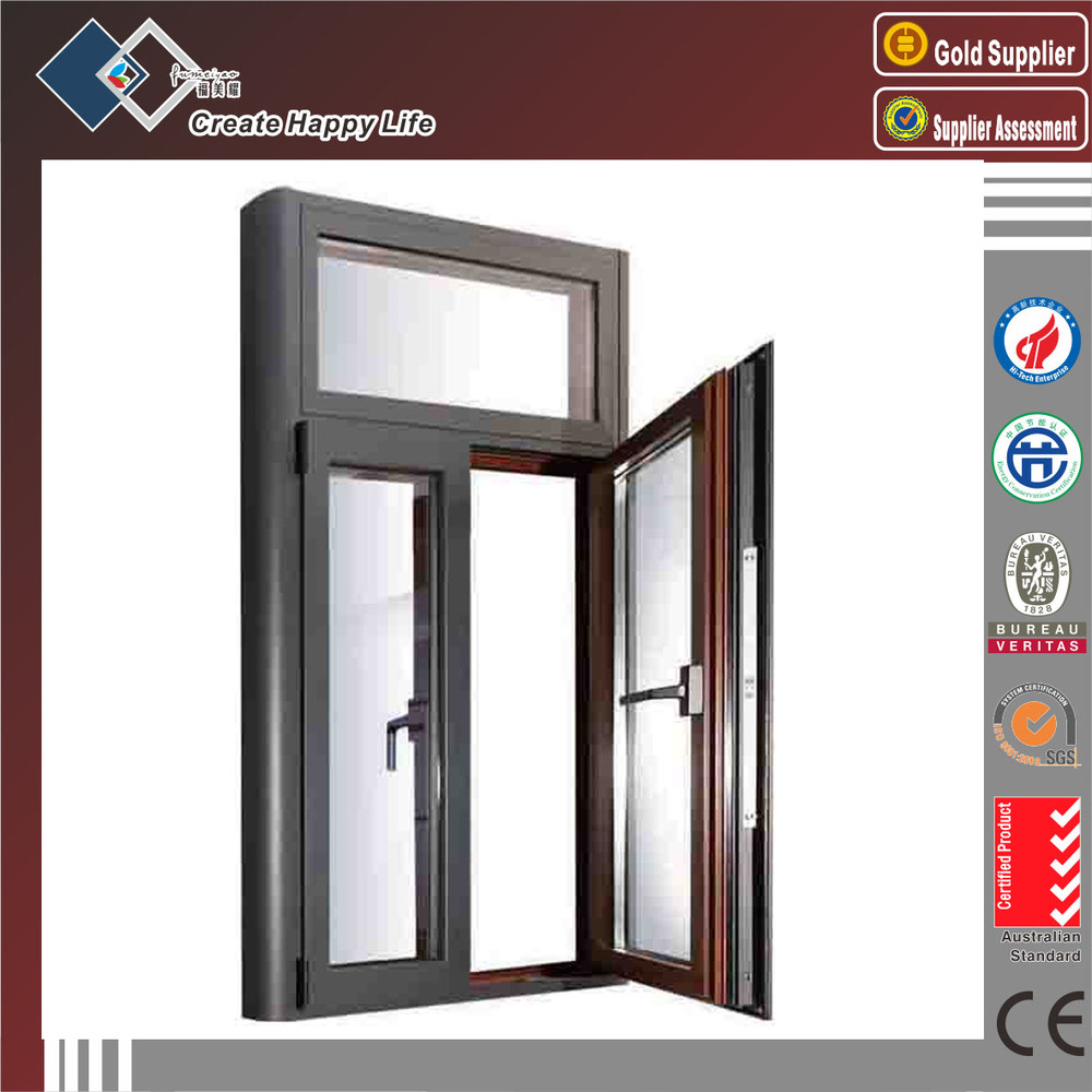 Soundproof windows - Custom Modern Aluminum Windows With Tempered Glass For Soundproof Windows