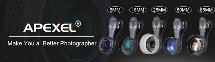 2020 apexel amazon ホット売主 22X ズーム電話望遠レンズ、広角 & マクロカメラレンズ三脚