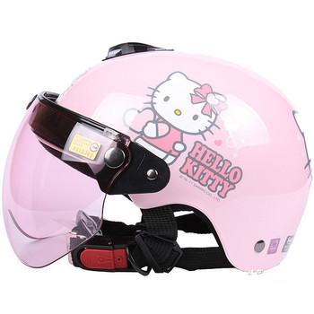 nouvelle arriv e bonjour kitty casque pour enfants filles moto casque rose casque de bande. Black Bedroom Furniture Sets. Home Design Ideas