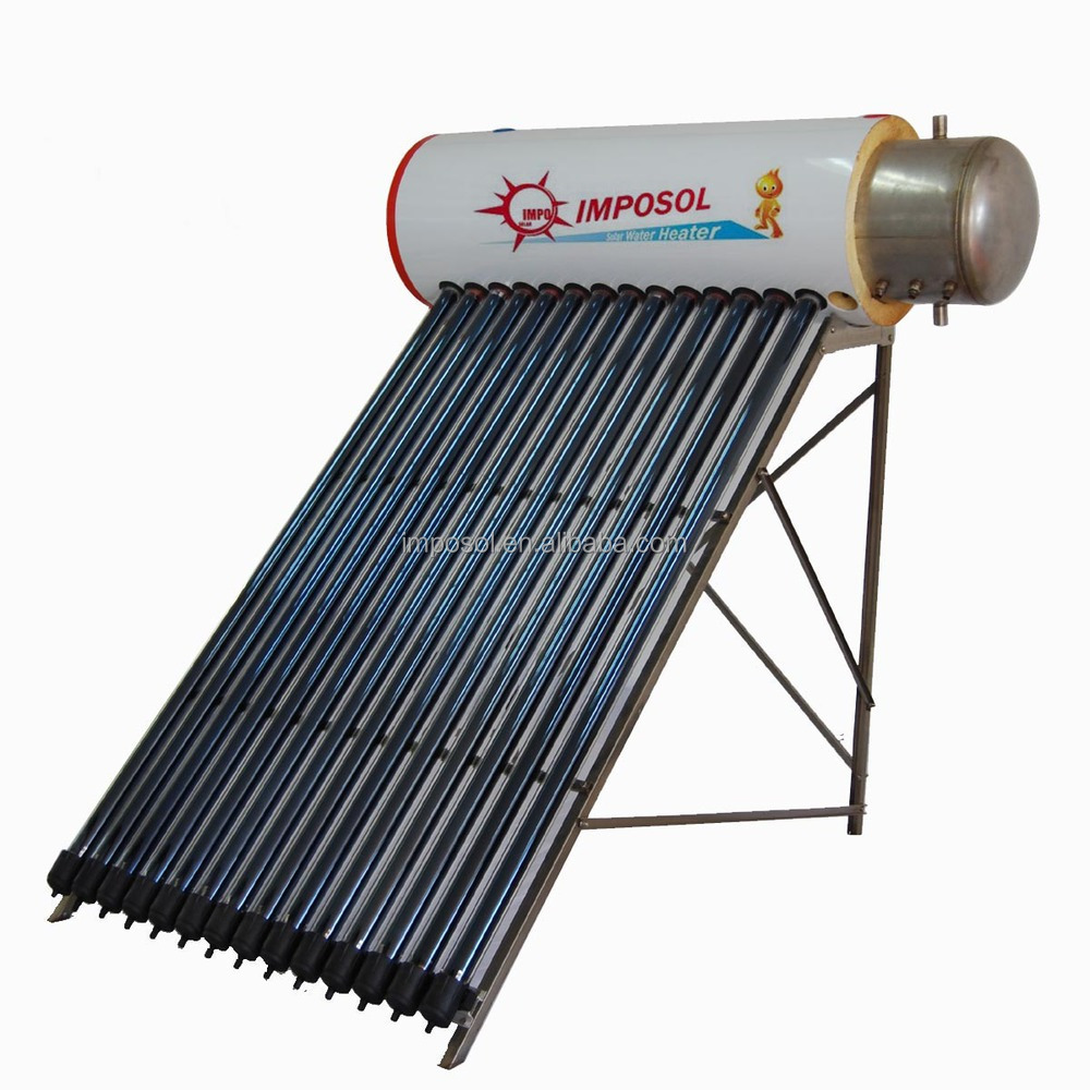 Portable Solar Water Heater : No battery powered heat pipe portable solar water heater