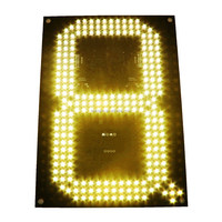 Hidly LED Gas Price Display 10 Inch Yellow Digital GAS Signs - Complete Package w/ RF Remote Control