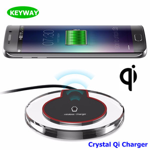 SHENZHEN Factory Round Crystal Fantasy Wireless Charging Pad Qi Wireless Charger for Samsung Galaxy S8/S6/S7/S7EDGE/Note5
