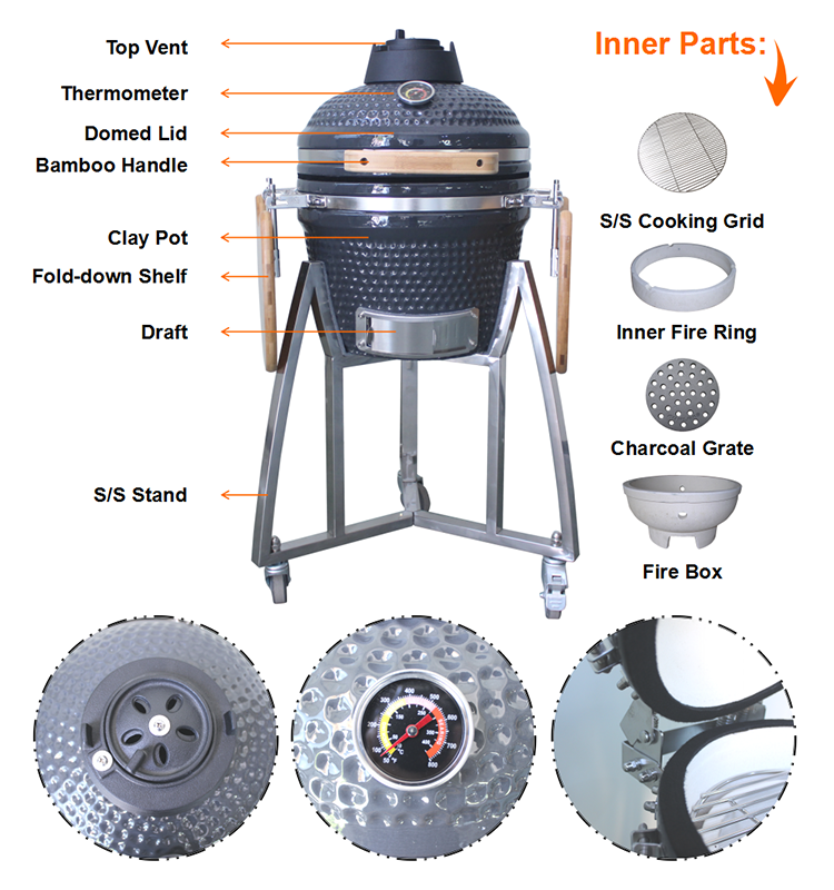 Auplex New Color High-quality Round Kamado Big Joe