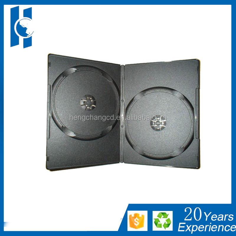 7mm/5mm/9mm/14mm /10mm pp case double wholesales dvd cases dvd boxes