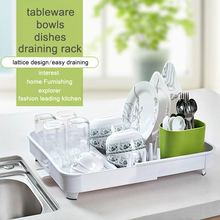 kitchen put rack storage box plastic drain water dish dishes containing single shelf storage basket
