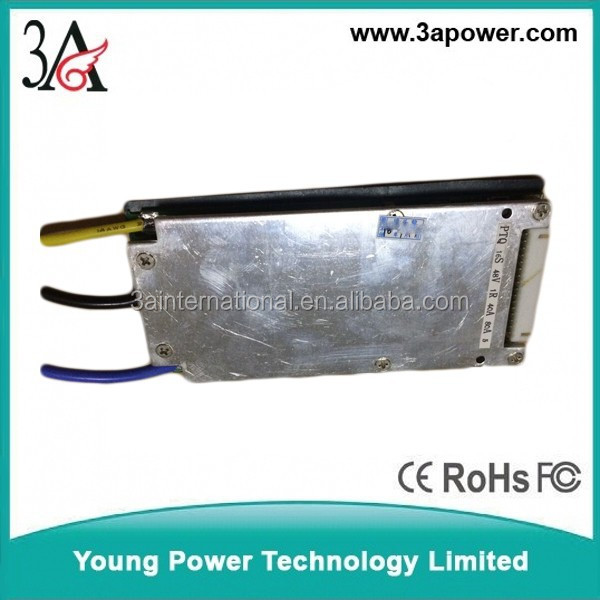 16s 48v 40A continue current peak 80A bms pcm for lifepo4 battery packs equalizer with light