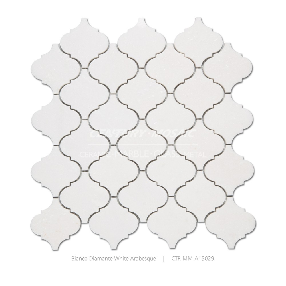 bianco diamante polished pattern decorative outdoor stone wall tiles