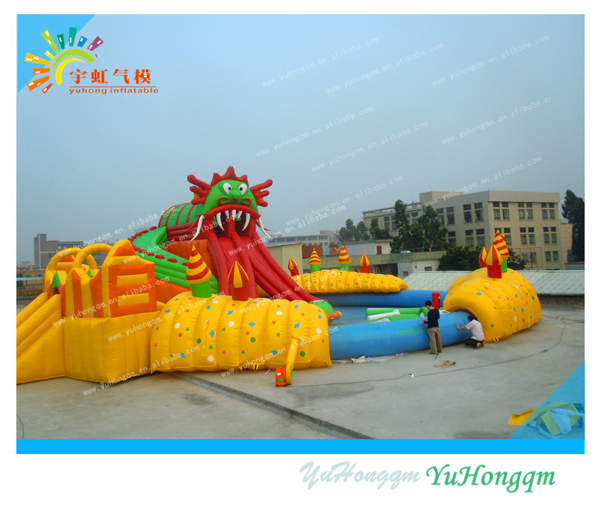 Inflatable Water Slide Safety Rules: Octopus Giant Inflatable Water Slide//adult Inflatable