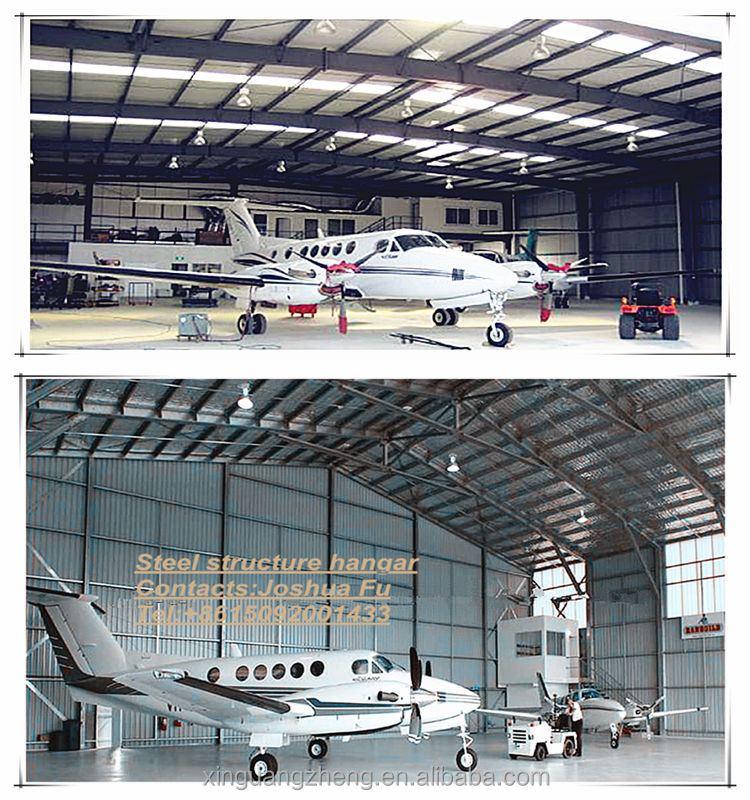 Mini plane aircraft steel structure hangar