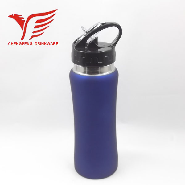 600ml single wall stainless steel water bottle with rubber coating