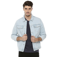 Custom wash plain white vintage jacket wholesale denim jacket men