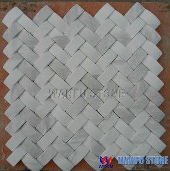 Marmo Bianco Di Carrara Mattonelle Di Mosaico Per Cucina E Bagno ...