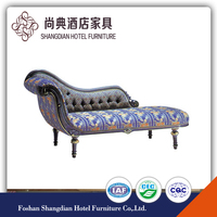 French Antique Style Chaise Lounge Chair for Bedroom