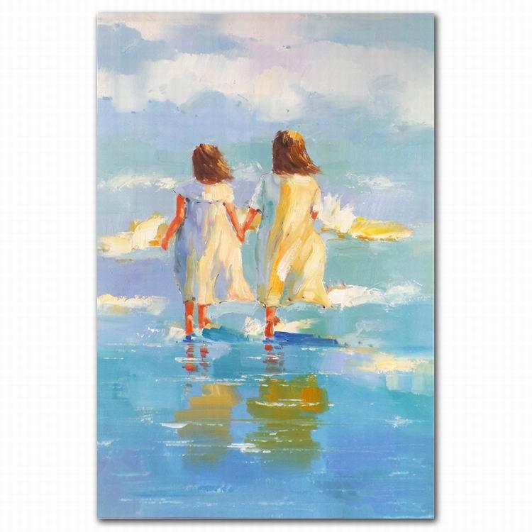 Top Qualität Benutzerdefinierte Strand Landschaft Kinder Leinwand ...