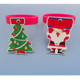 xmas santa claus rubber hangers glass wine charms for christmas decorations