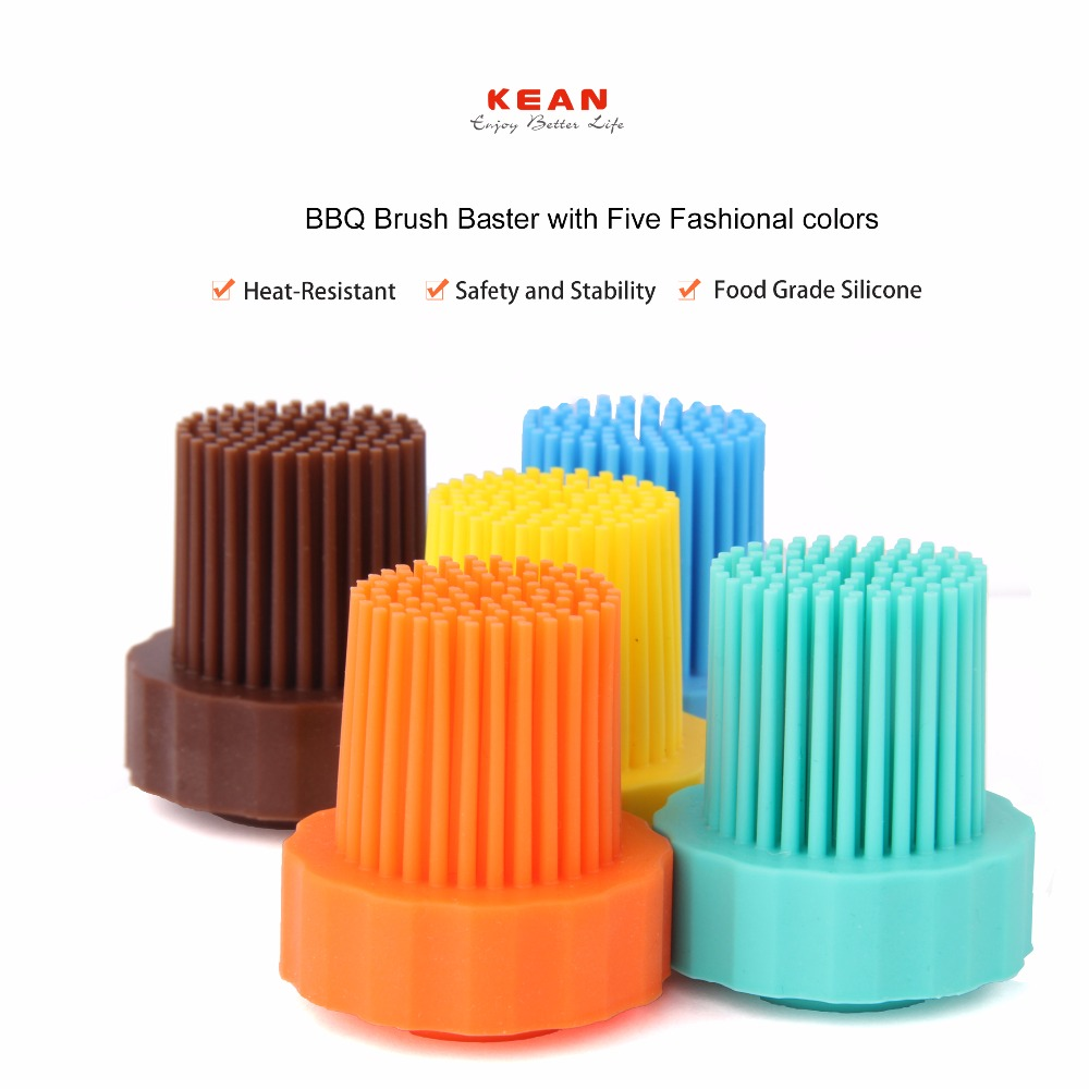 Hot selling reusable control flow food grade silicone barbeque brush