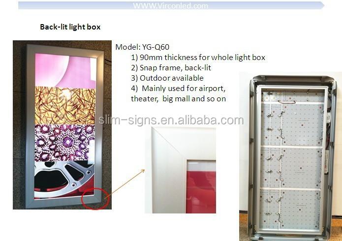 Customized Size Backlit Led Light Box,Advertising Backlit Vinyl,Fabric  Store Display - Buy Standard Size Led Light Box,Menu Display Light Box,Diy
