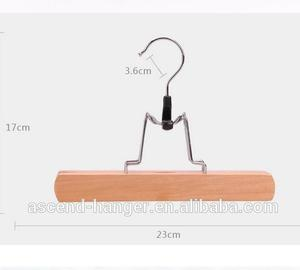 ASCEND wholesale space saving trouser wooden pant hanger