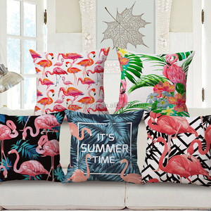 Canvas Pillow Covers Wholesale Sofa Set Designs And Prices Animal Flamingo Decorative Pillow Cushion Cover