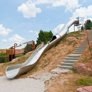 Customized playground stainless steel tube slide